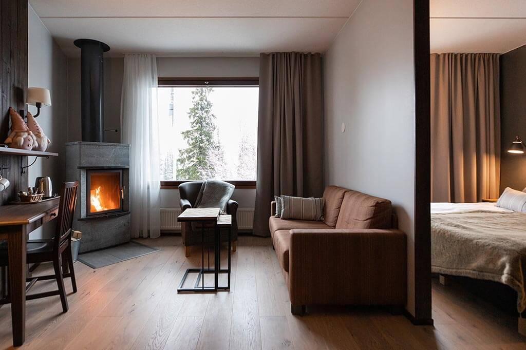 Hotel Aurora Luosto Superior with Fireplace