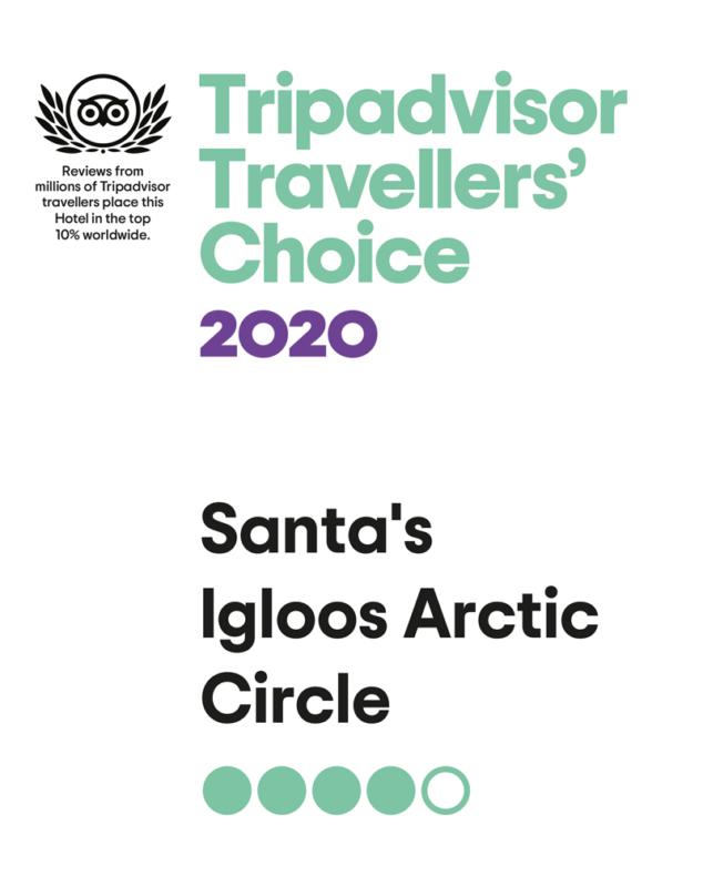 Santa's Igloos Tripadvisor Traveller's Choice 2020