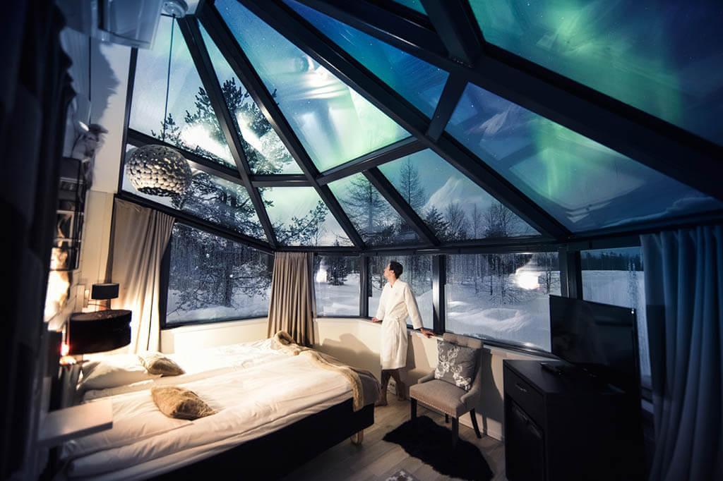 Glass Igloo in Arctic Circle Rovaniemi